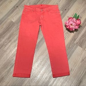 7 For All Mankind Jeans - 7 for All Mankind Skinny Crop and Roll Jeans